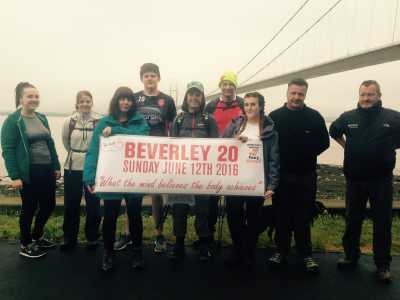 Hull KR fans walk the Beverley 20 for the SPF