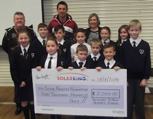 St Ann's Church of England Primary School raised an OUTSTANDING £2,000 for the foundation