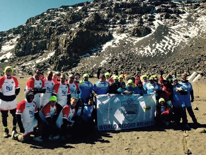 Steve Prescott Foundation Spectrum Kilimanjaro Challenge 2015 Official Guinness World Record breakers