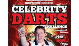 Celebrity Darts Challenge featuring Johnny Vegas and stars of darts and rugby league Sunday 6th December