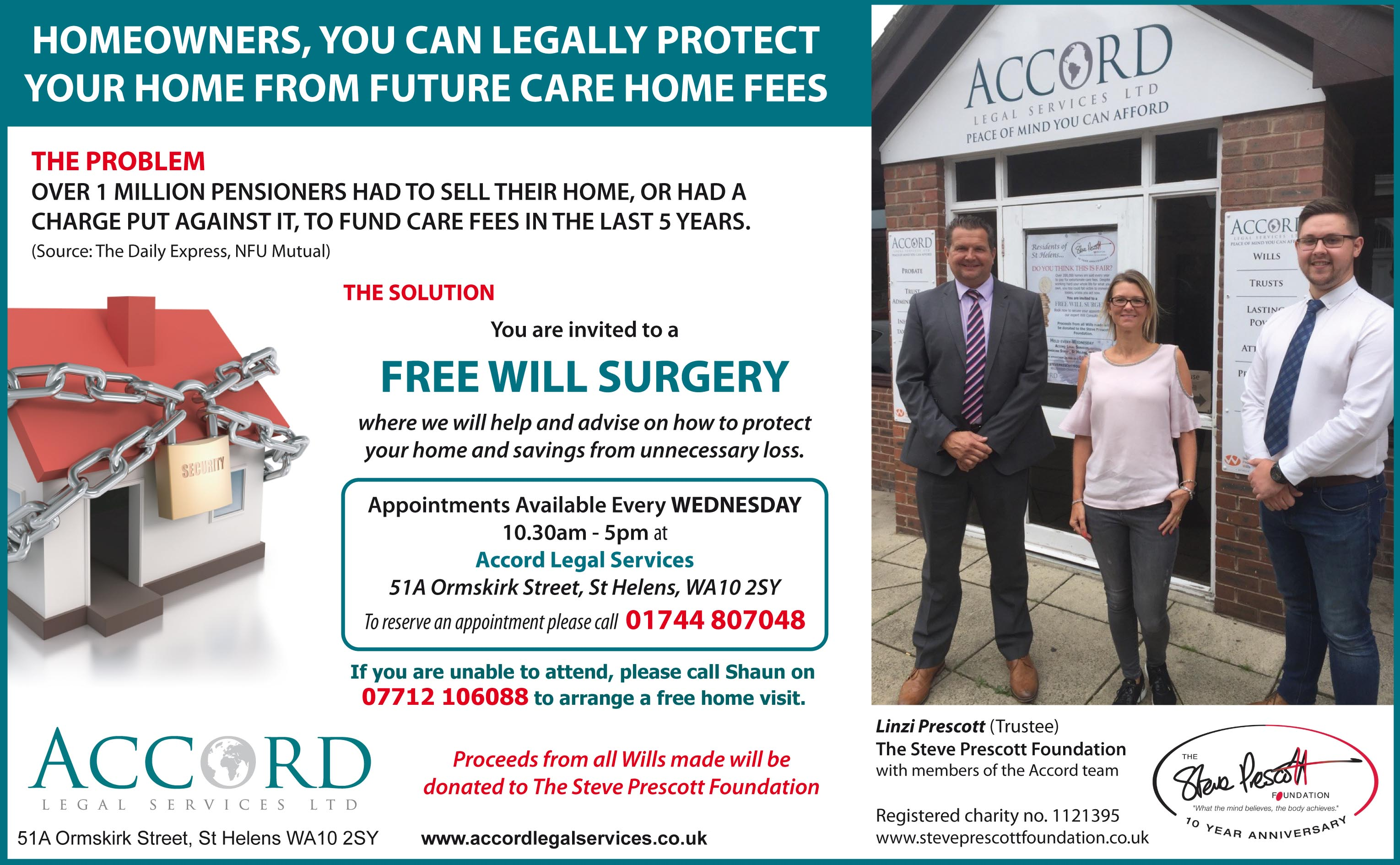 Free Will Surgery - Every Wednesday from 13th Sept 2017