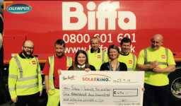 Biffa St Helens reward scheme nominates the SPF  to receive a fantastic £1256.11