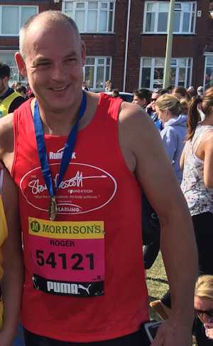 Roger Bennett completes the Great North Run