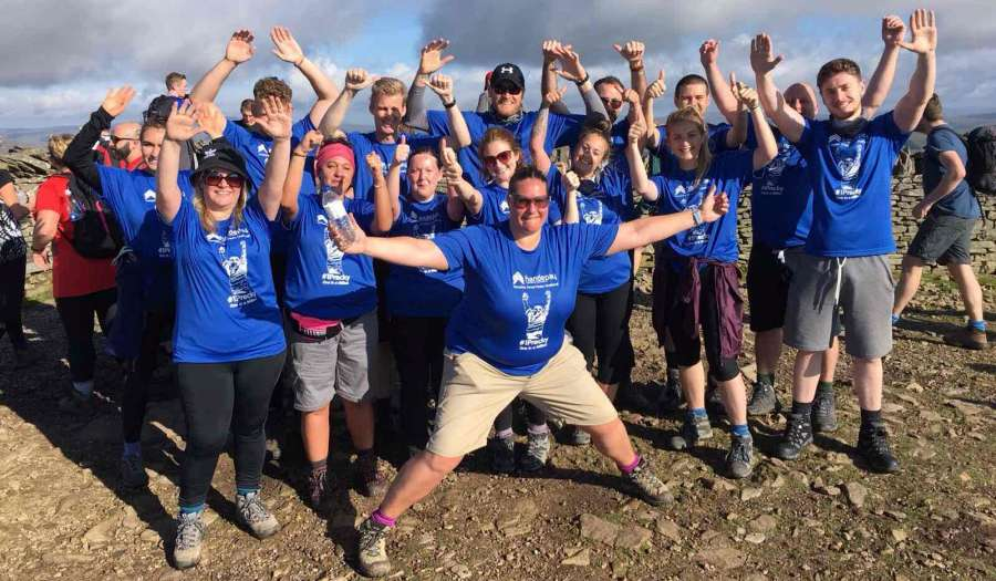 Handepay employees tackle the Yorkshire Three Peaks Challenge