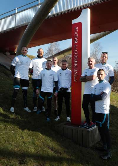 Team K3 Zadara Race across Europe Cycling Challenge for the Steve Prescott Foundation. 8 man team includes Hull FC legends Ewan Dowes and Gareth Ellis