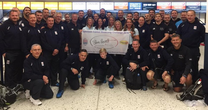 Spectrum Everest Base Camp Challenge 2016 in aid of the Steve Prescott Foundation