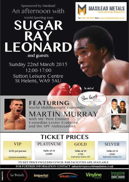 An Afternoon with Sugar Ray Leonard