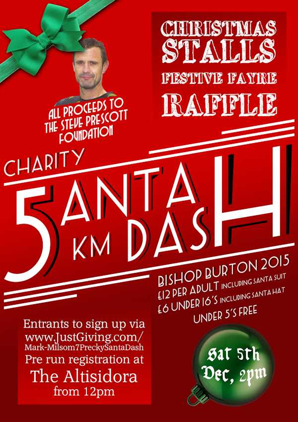 5k Bishop Burton Santa Dash Saturday 5th December
