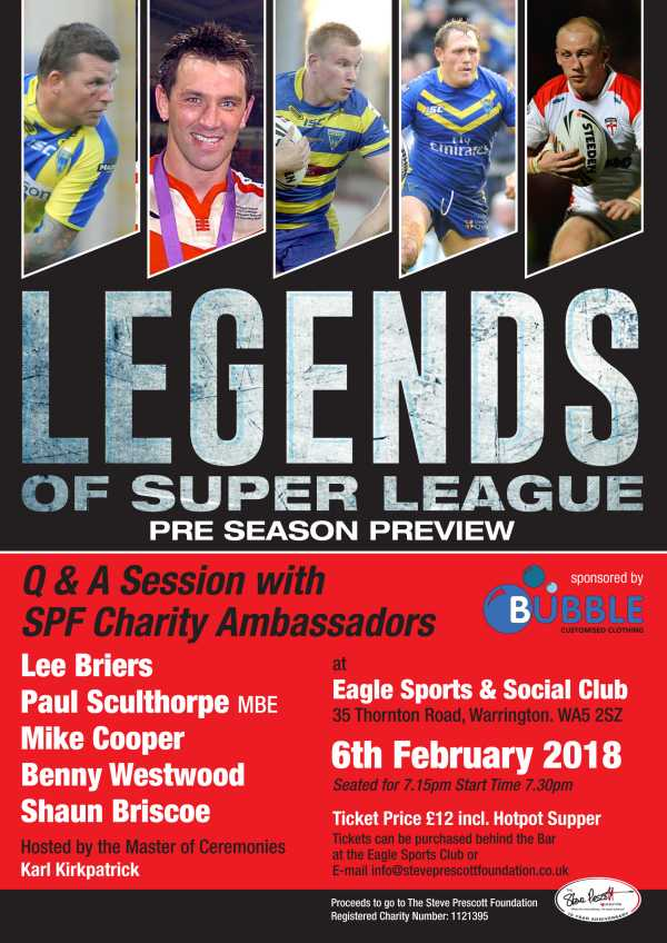 Bubble Customised Clothing Legends of Super League 2018 Season preview