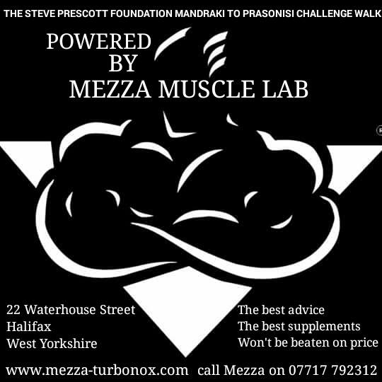 A Massive thank you to Mezza Muscle Lab on fuelling up Ben & Gaynor on their epic challenge.
