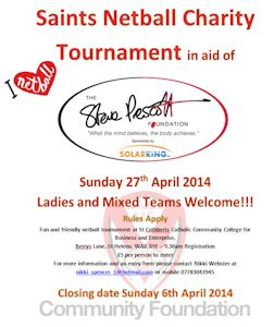 Saints Netball Charity Tournament