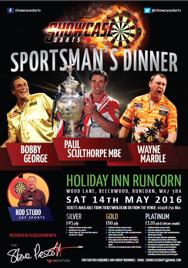 Sportsman's Dinner and Darts Night 14th May 2016
